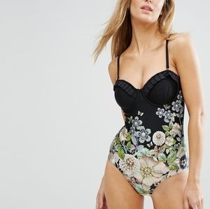 🍒NWT🍒 TED BAKER SECRET SILHOUETTE ONE PIECE